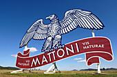 Mattoni-advertisement at the freeway Pilsen-Prag, Czech Republic