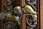 Door knob, castle Hluboka near Budweis, Czech Republic