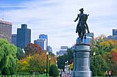 Boston, Public Garden, G.Washington Statue, Boston, Massachusetts, USA, ,USA