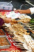 Satays in street trading, Kuala Lumpur, Malaysia