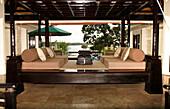 Luxury furniture, Banyan Tree Resort, Bintan Island, Indonesia
