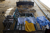 Drying Clothes in Old Town, Naples, Campania, Italy