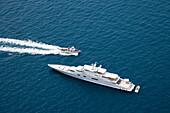Luxury Yacht Anchored off Capri, Luxury Yacht Anchored off Capri