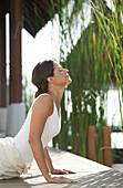 Woman doing Yoga exercises, Wellness, Relaxation, Health