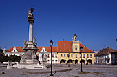 Trg svetog trojstva Place of the Holy Trinity with Holy Trinity Column, Austrian Fortress, Tvrda, Osijek, Slavonia, Croatia