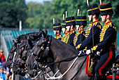 Changing of the Guard, King's Troop, Royal Horse Artillery, Whitehall, London, London, England, United Kingdom