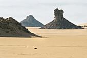 Hills in the desert Tassili N' Ajjer, Sahara, Algeria, Africa