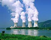 Nuclear Power Station. Rhone River. Montelimar. France