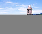 Architecture, Bell tower, Bell towers, Church, Churches, Color, Colour, Daytime, Exterior, Horizontal, Latin America, Mexico, Michoacan, North America, Outdoor, Outdoors, Outside, Paricutín, San Juan, Temple, Temples, Travel, Travels, World locations, Wo