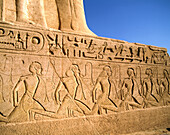 Relief at Temple of Ramses II. Abu Simbel. Egypt