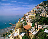 Amalfi, Campania, Coast, Coastal, Color, Colour, Daytime, Europe, Exterior, Horizon, Horizons, Horizontal, Italy, Mediterranean Sea, Outdoor, Outdoors, Outside, Positano, Sea, Travel, Travels, Tyrrhenian Sea, Village, Villages, World locations, World trav