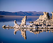 Tufa towers geological formations along the South shore of Mono Lake. California, USA