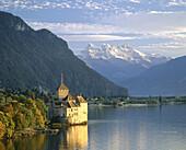 Chillon Castle. Lac Leman. Montreux. Switzerland