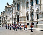 Changing of the guard. Government Palace. Lima. Perú.