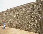 Huaca del Arco Iris ruins. Chimu culture. Trujillo, Peru.