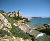 Castle of Tamarit. Tarragona province. Spain