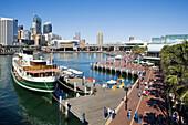 Darling Harbour. Sydney City. New South Wales. Australia. April 2006