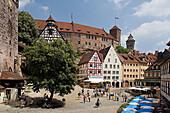 Nurnberg castle (Kaiserburg). Nürnberg. Bavaria. Germany.