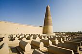 The Silk Road. Emin Ta Minaret and Sugong Mosque. Turpan City. Xinjiang Province. China. Nov. 2006