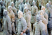 Bingmayong. The Terracota Warriors (W.H.). Xian City. Shaanxi Province. The Silk Road. China. Nov.2006