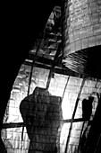 Torso and metal, Guggenheim Museum, Bilbao
