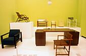 Furniture by Erich Dieckman (1926). Bauhaus Museum. Weimar. Thuringia. Germany