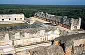 The Nunnery quadrangle. Mayan ruins. Uxmal. Yucatan. Mexico.