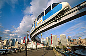 Monorail. Darling harbour. Sydney. New South Wales. Australia.