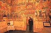 Frescos in the church of Humor monastery. Bucovina. Romania