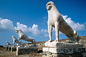 Lion statues. Delos. Cyclades Islands. Greece