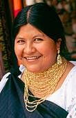 Otavalo s woman. Imbabura province. Ecuador
