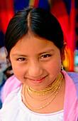 Otavalo s girl. Imbabura province. Ecuador