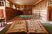 Books at Monasterio de Yuso library. San Millán de la Cogolla. La rioja. Spain