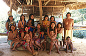 Embera indians of Parara Puru indigenous community. Alajuela Lake, Chagres National Park, Panama