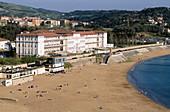 Sanatorium and beach. Górliz. Vizcaya. Euskadi. Spain.