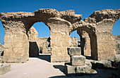 The Roman thermae. Archaeological location of the ancient city. Carthage. Tunisia