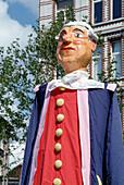 Figure, folk parade to celebrate the marriage between Moleenbeek-Saint-Jean and Brussels. Belgium