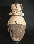 Anthropomorphe vessel (1200 - 1430 A.D.). Chancay culture. Peru.