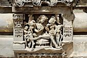 Detail of Chand Baori, one of the oldest baori (step-well). Abhaneri, Rajasthan. India