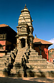 Fasidega Lord Shiva Temple in Darbar Square in Bhaktapur, Katmandu Valley, Nepal
