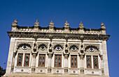 Richly decorated façade of Shinde s Chattri, Pune. Maharashtra, India