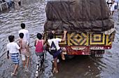 Monsoon. Bombay. India