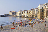 Cefalu in afternoon light. Sicily, Italy
