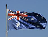 Australian flag in Darling Harbour. Sydney. New South Wales, Australia