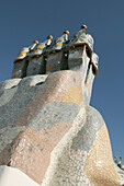 Ventilation on Casa Battlo. By Antoni Gaudi. Barcelona. Spain.