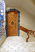 Door in Casa Battlo. By Antoni Gaudi (1904-1906). Barcelona. Spain.