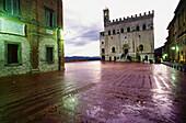 Palazzo dei Consoli, XIV century. Gubbio. Italy