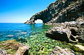 Arco dell'Elefante (Elephant s arch) in Pantelleria Island. Sicily. Italy