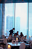 Felix Restaurant, designed by Philippe Starck at Peninsula Hotel. Hong Kong. China.