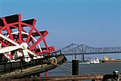 Steamer at Mississippi River. New Orleans. Louisiana. USA